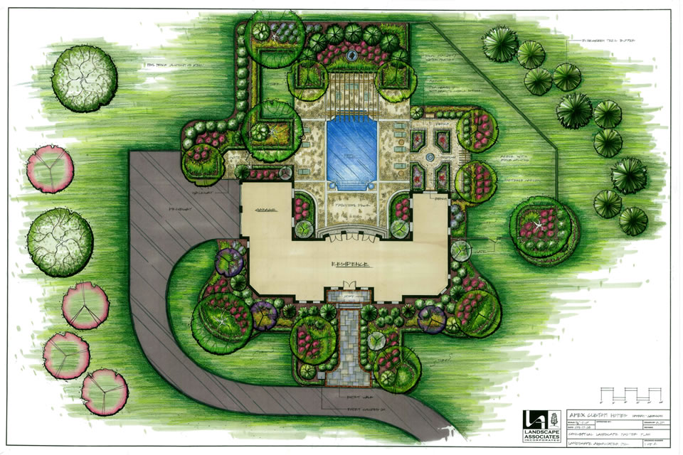 Landscape plans and drawings landscape associates inc for How to design garden layout